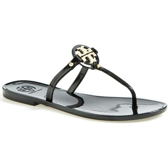 6ab9769f90ee Tory Burch Mini Miller Thong Sandals Black Jelly.  M 5a8107e8077b977cff85de4d. Other Shoes ...